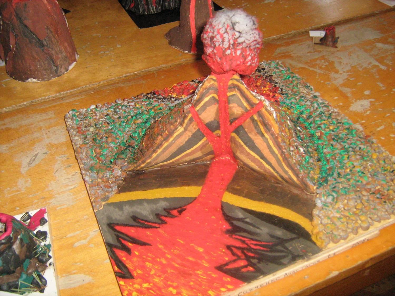 Макет вулкана из соленого теста своими руками 70